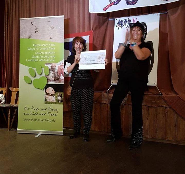 800 Euro durch Tanz Marathon – riesengroßes Dankeschön an die 'Highwaystompers Amberg'