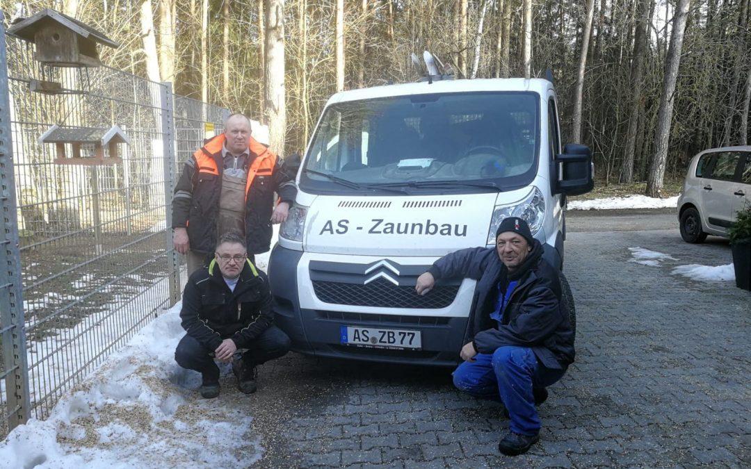 Herzlichen Dank für einen neuen Zaun an die Firma AS-Zaunbau aus Sulzbach-Rosenberg