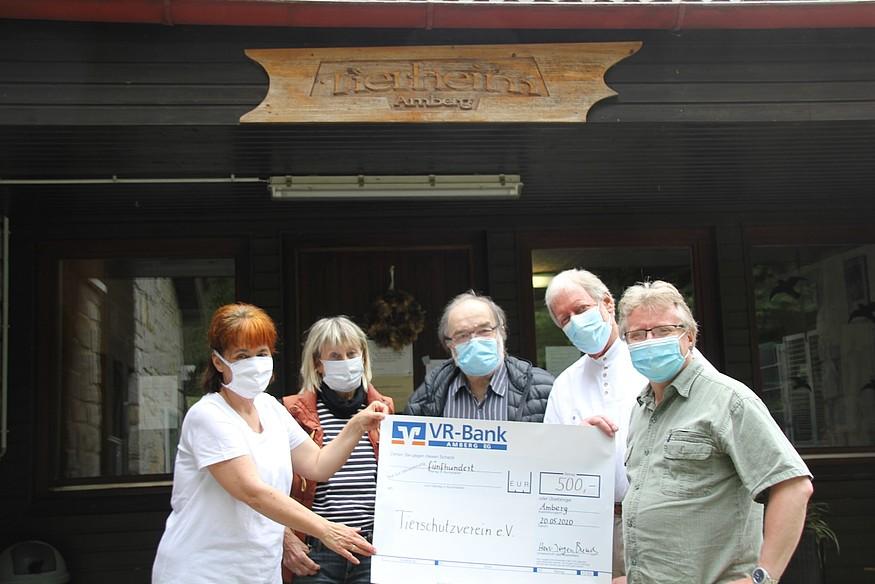 Spendenübergabe Bündnis90 / Die Grünen – 500 Euro für die Tiere !